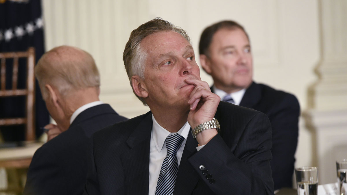 File image of Virginia Governor Terry McAuliffe. The Democratic governor is the subject of a federal investigation into whether he violated campaign finance laws.