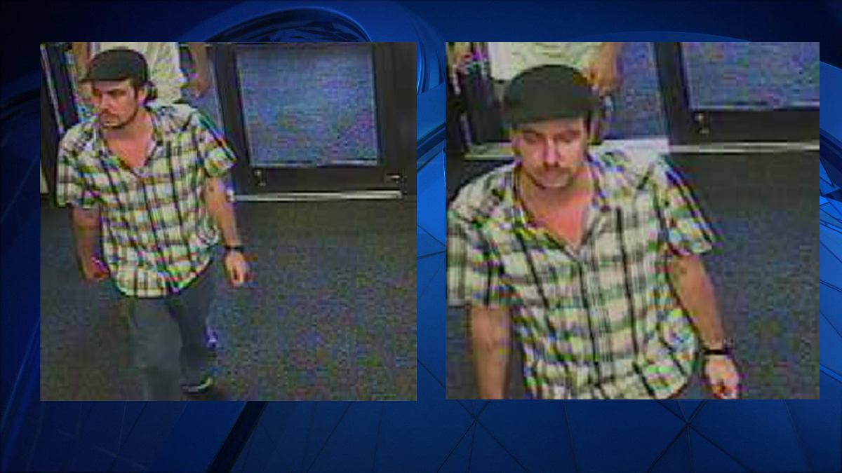 Waterford police said the suspect pictured above stole two leaf blowers from a local Sears.