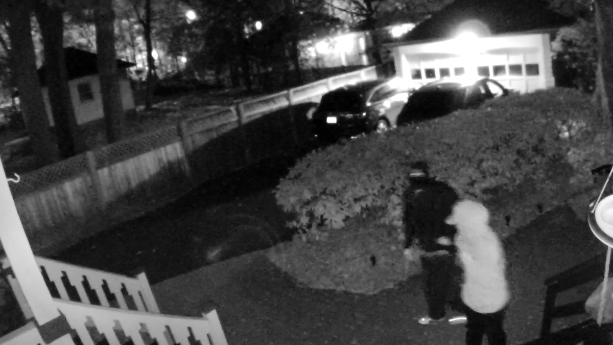 The suspects pictured above are suspected of trying to enter a home on Beverly Road early Saturday morning. Police also received several reports of vehicle burglaries in the same area.