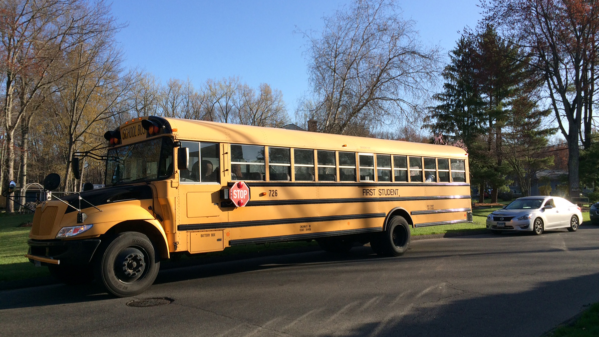 A school bus taking students to Bloomfield High School was involved in a minor accident on Edgewood Drive in West Hartford Tuesday morning.