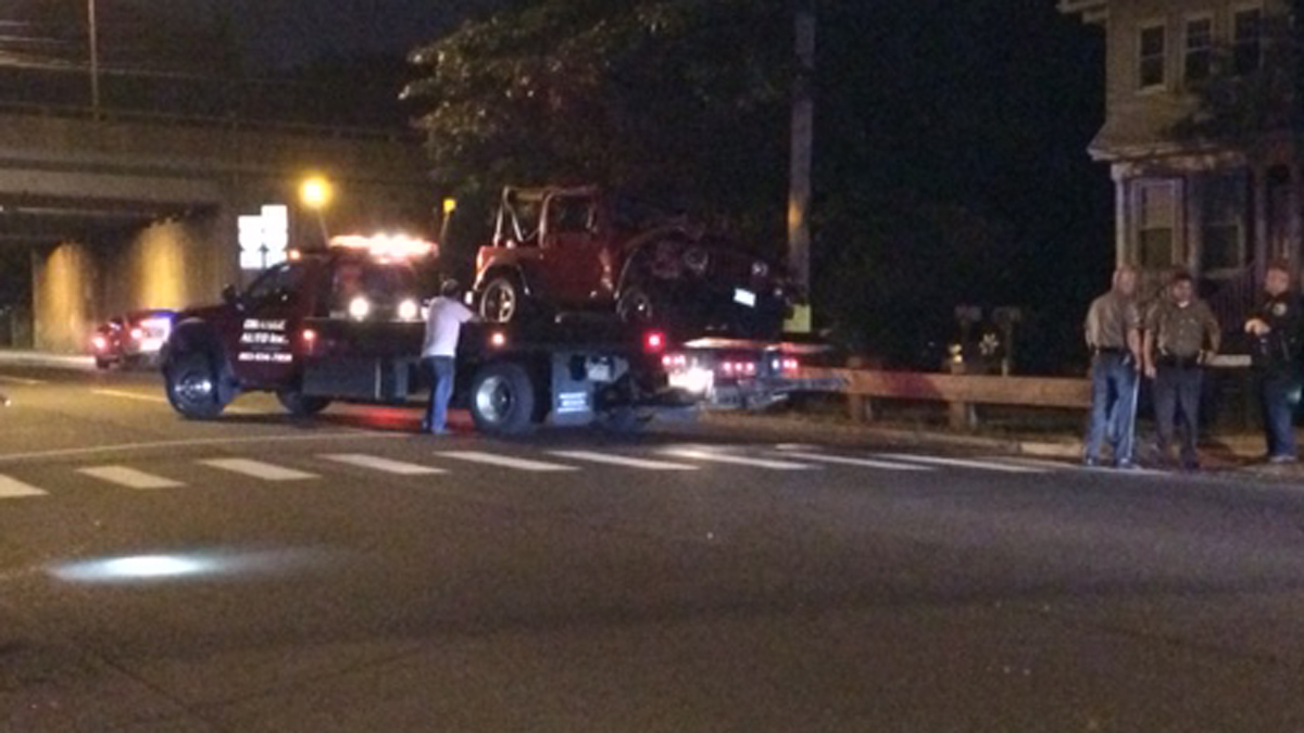 Police investigating a crash near the I-95S exit 43 ramp Wednesday morning.