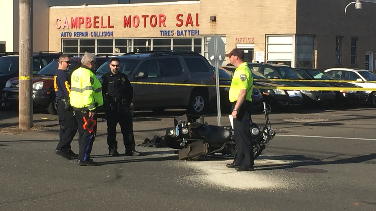 A motorcyclist was killed and a passenger seriously injured in a crash on Campbell Avenue in West Haven Sunday.