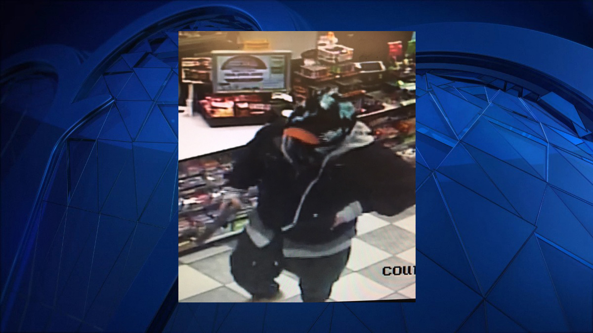 Connecticut state police say the person pictured above robbed a Westbrook convenience store at gunpoint Friday night.