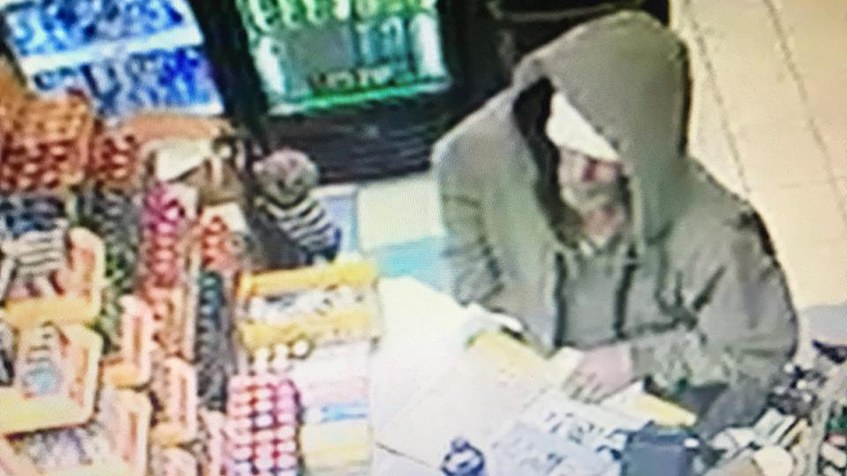 Connecticut State Police say the suspect pictured above robbed a Westbrook convenience store with a gun Tuesday night.