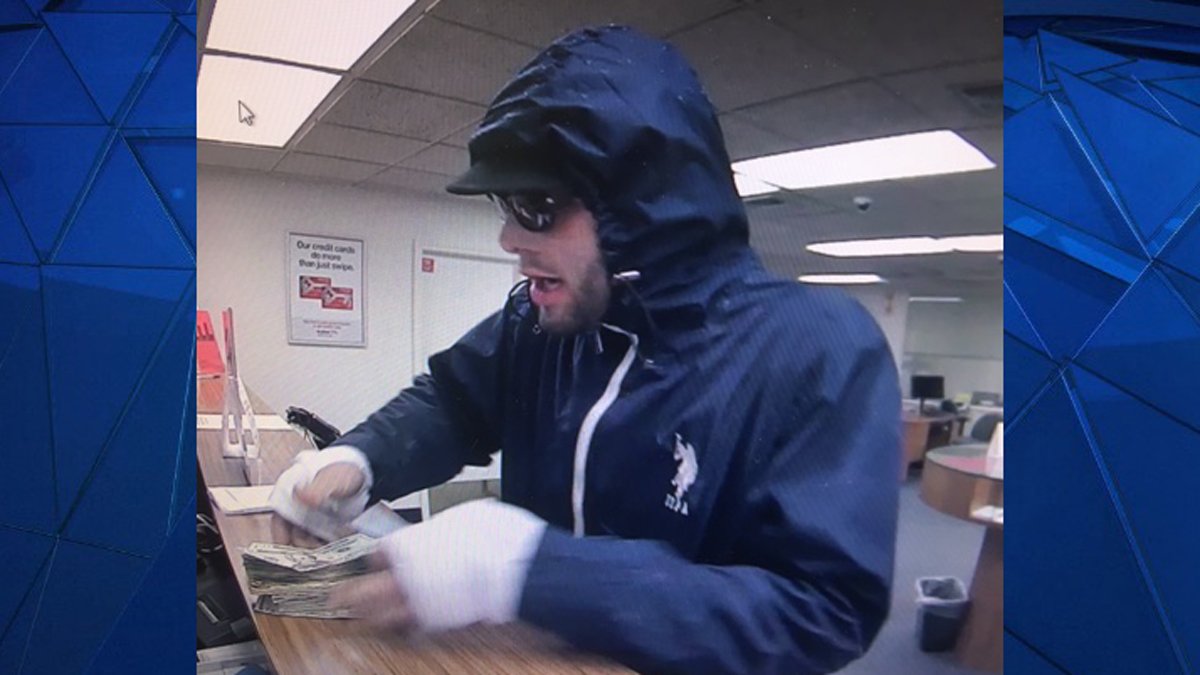 Connecticut State Police say the suspect pictured above robbed the Key Bank on Boston Post Road in Westbrook Sunday.