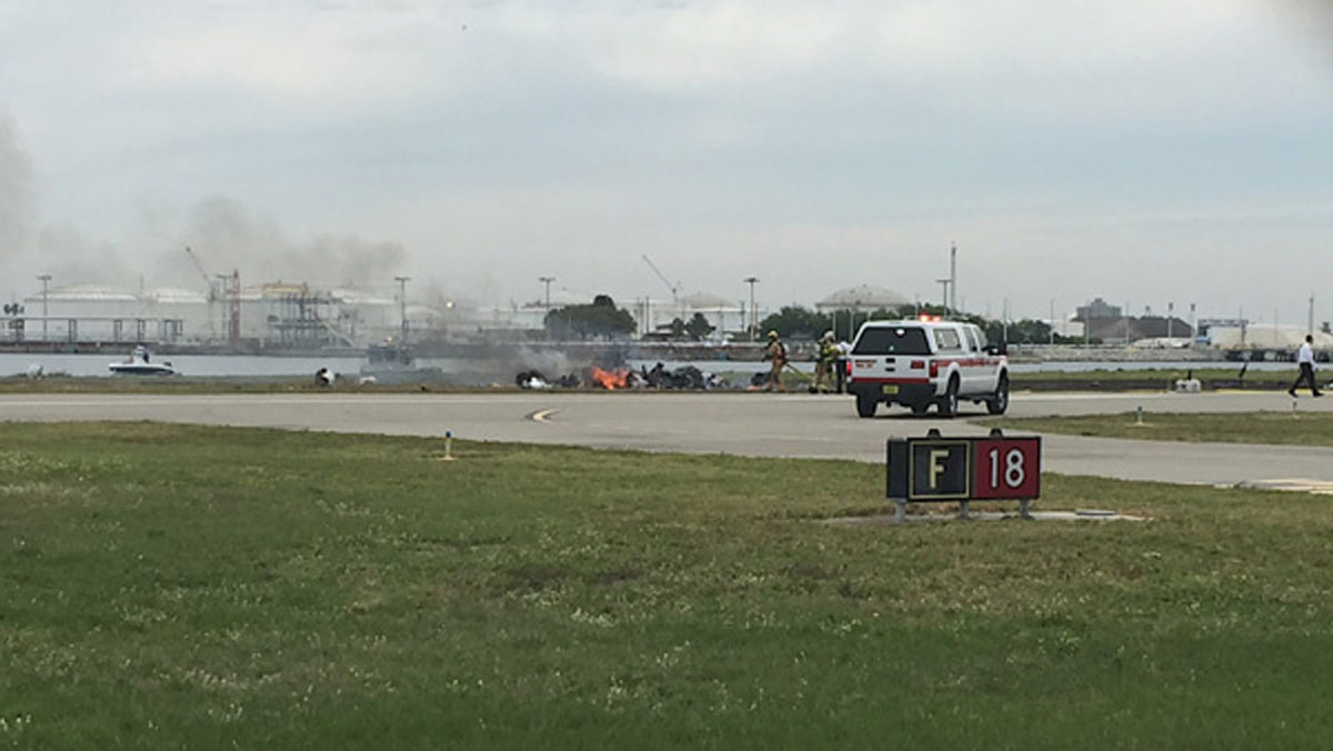 NBC affiliate WFLA in Tampa captured footage of a plane crash at Peter O. Knight Airport on March 18, 2016.