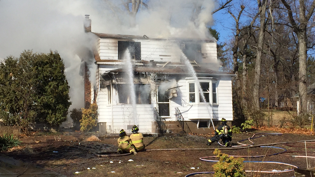 Crews responded to a house fire on Matianuck Avenue in Windsor Monday morning.