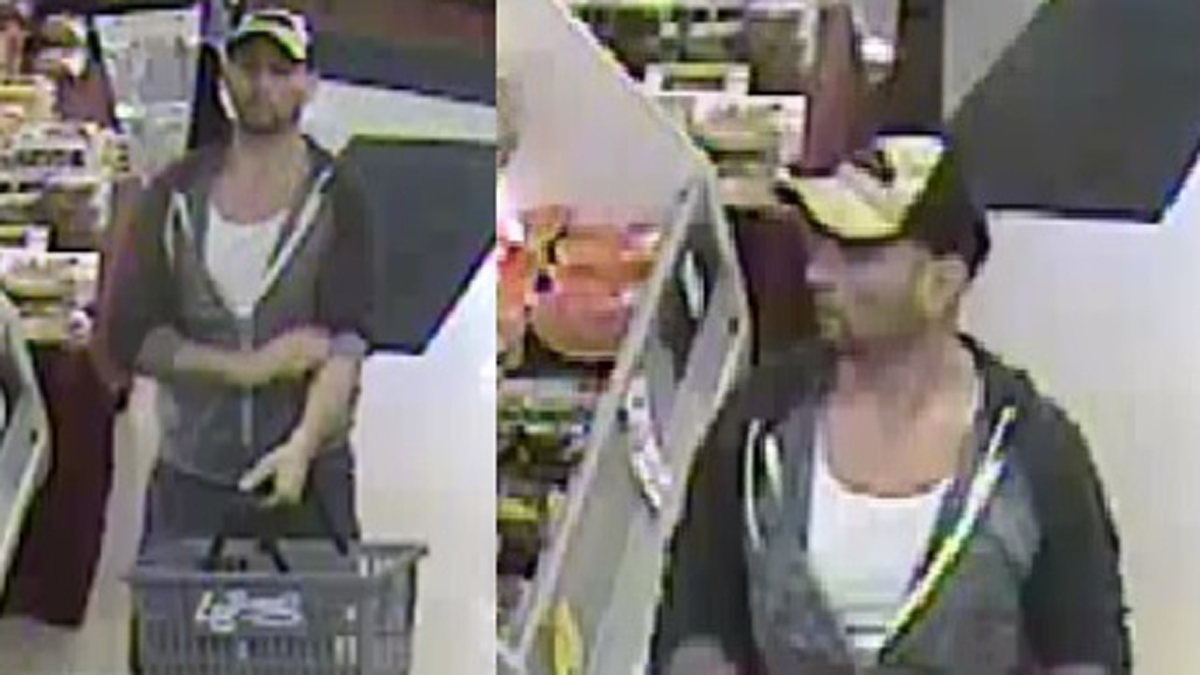 Watertown police said the subject pictured above is accused of stealing meat and seafood from Labbone's Market in two separates incidents.