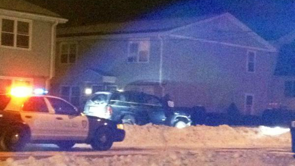 A car crashed into an apartment building in West Haven Monday morning.