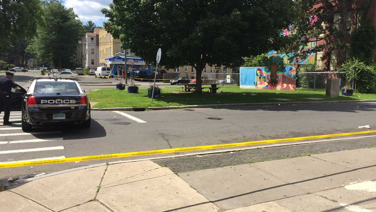 Police are investigating after a person was found shot in the head on Westland Street in Hartford Sunday.