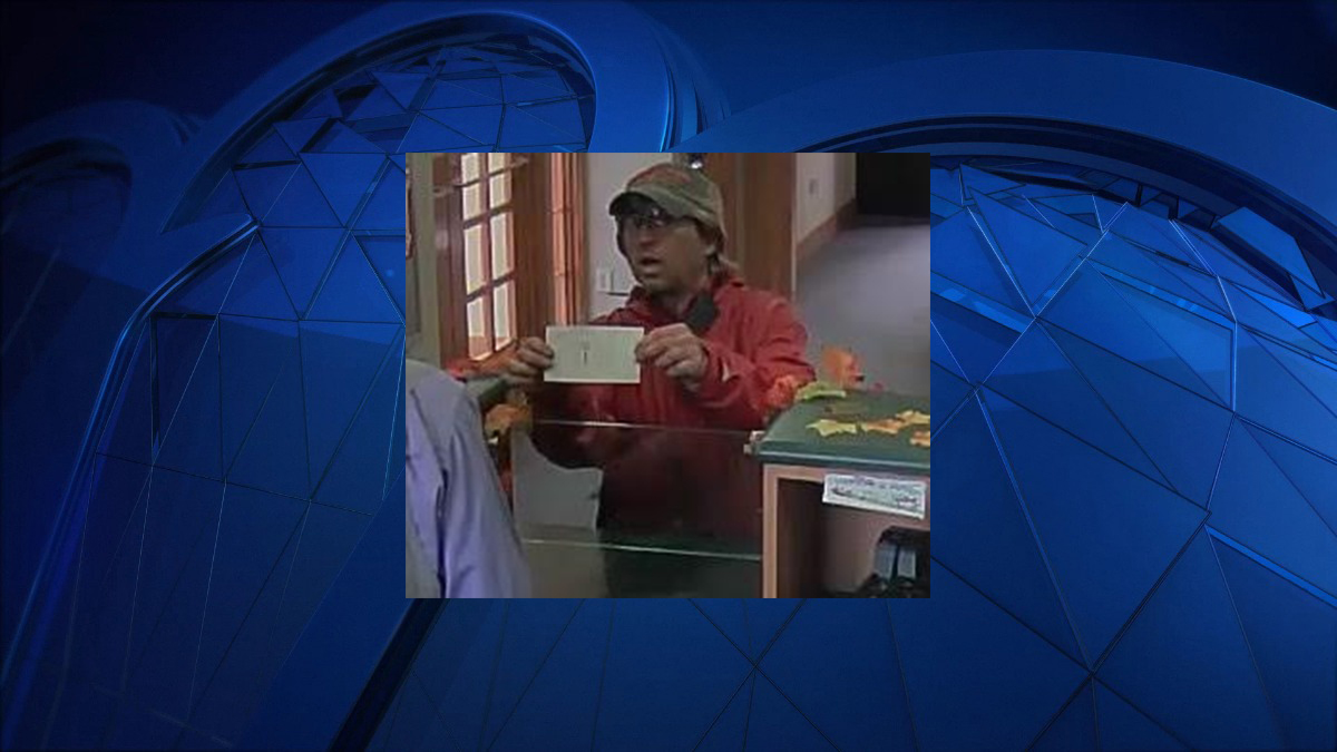 Wethersfield police said the subject pictured above entered the TD Bank at 25 Wells Road around 11 a.m. Saturday and showed a note demanding money.