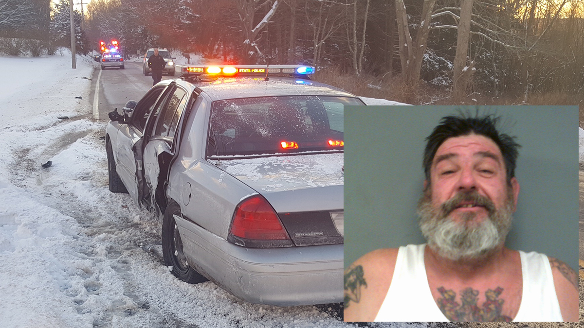 Edward Lukas was charged with OUI after an accident in Willington on Sunday, according to state police.