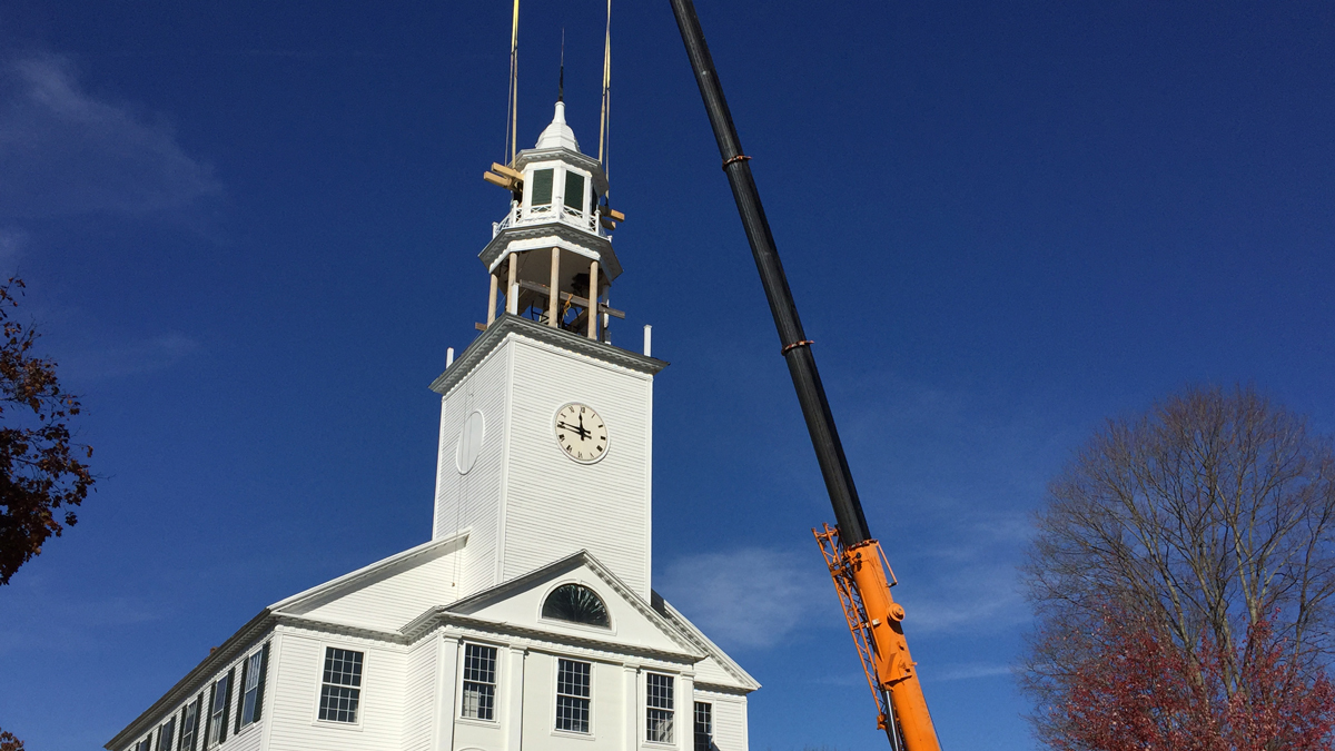 The 200-year-old North Congregation Church in Woodbury