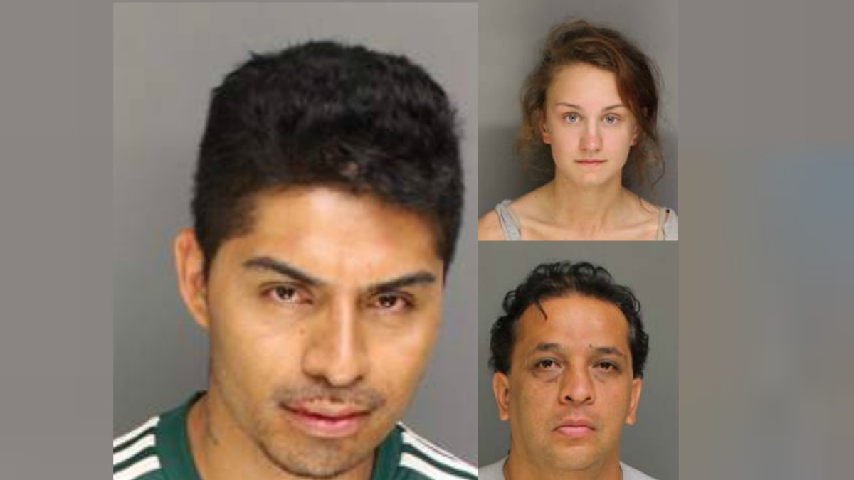 Antonio Garcia (left), Shannon Mahoney (top right) and Daniel Carrasco (bottom right) were three of four people arrested in a post-game World Cup celebration flooding Madison Avenue in Bridgeport.
