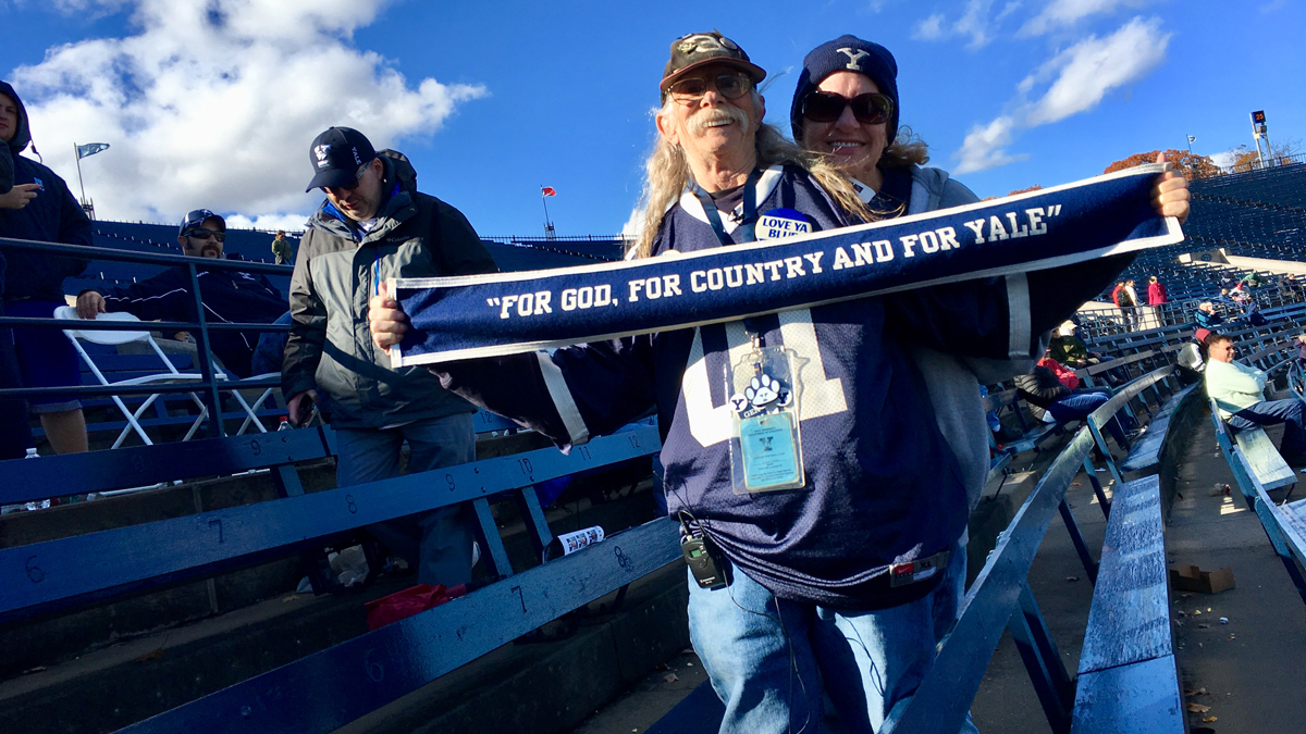 Stu Cohen attended his 300th football game at the Yale Bowl on Saturday.