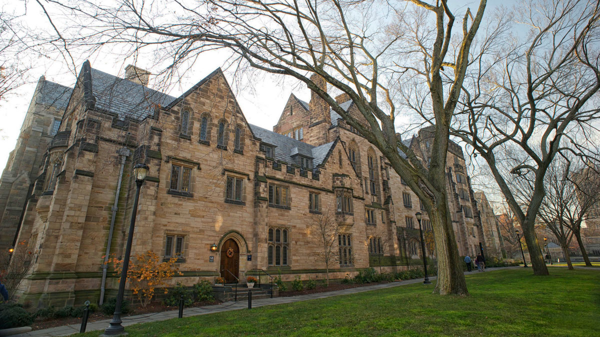 Yale University's Calhoun College was built in 1933 in collegiate gothic style architecture.