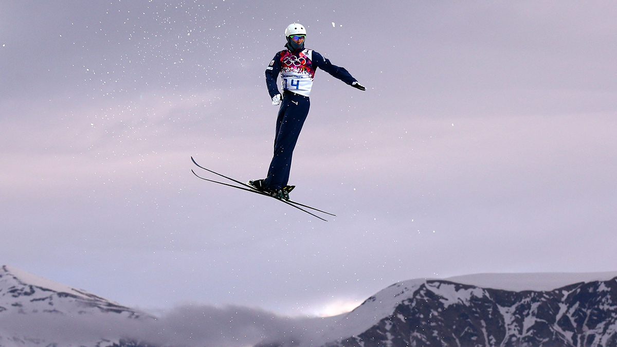 Mac Bohonnon of the United States competes in the Freestyle Skiing Men's Aerials Qualification on day ten of the 2014 Winter Olympics at Rosa Khutor Extreme Park on Feb. 17 in Sochi, Russia.