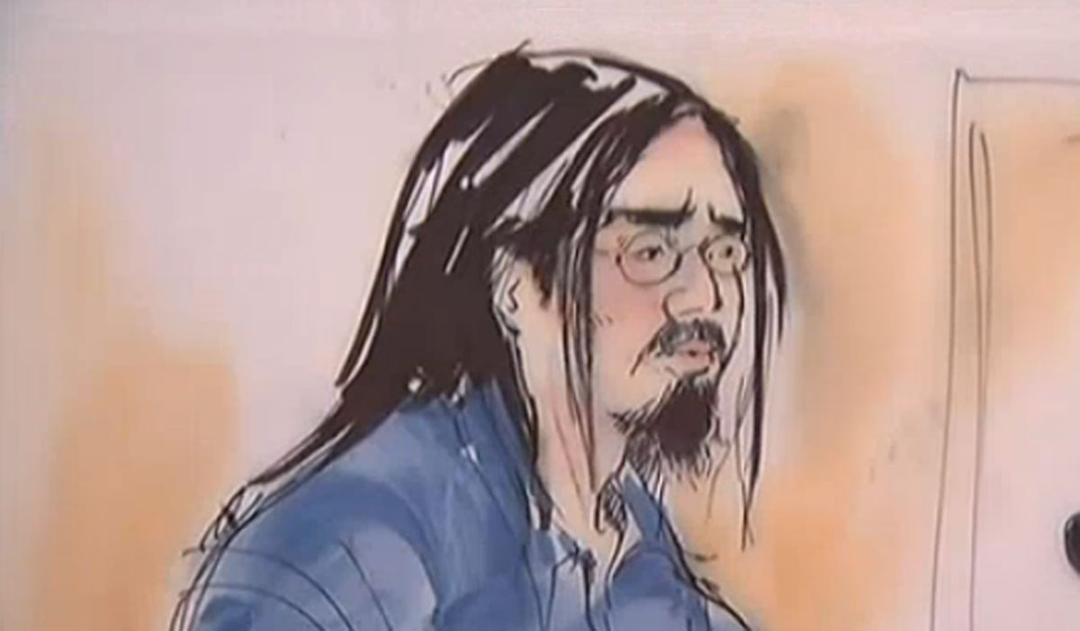 Sinh Vinh Ngo Nguyen, also known as Hasan Abu Omar Ghannoum, in a court sketch.