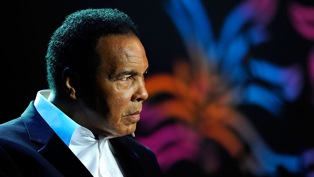 Muhammad Ali appears onstage during the Michael J. Fox Foundation's 2010 Benefit