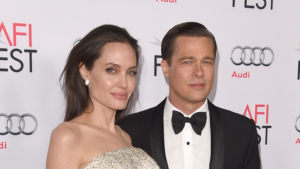 File photo of Angelina Jolie Pitt (L) and Brad Pitt attending the opening night gala premiere of Universal Pictures' 'By the Sea' during AFI FEST 2015