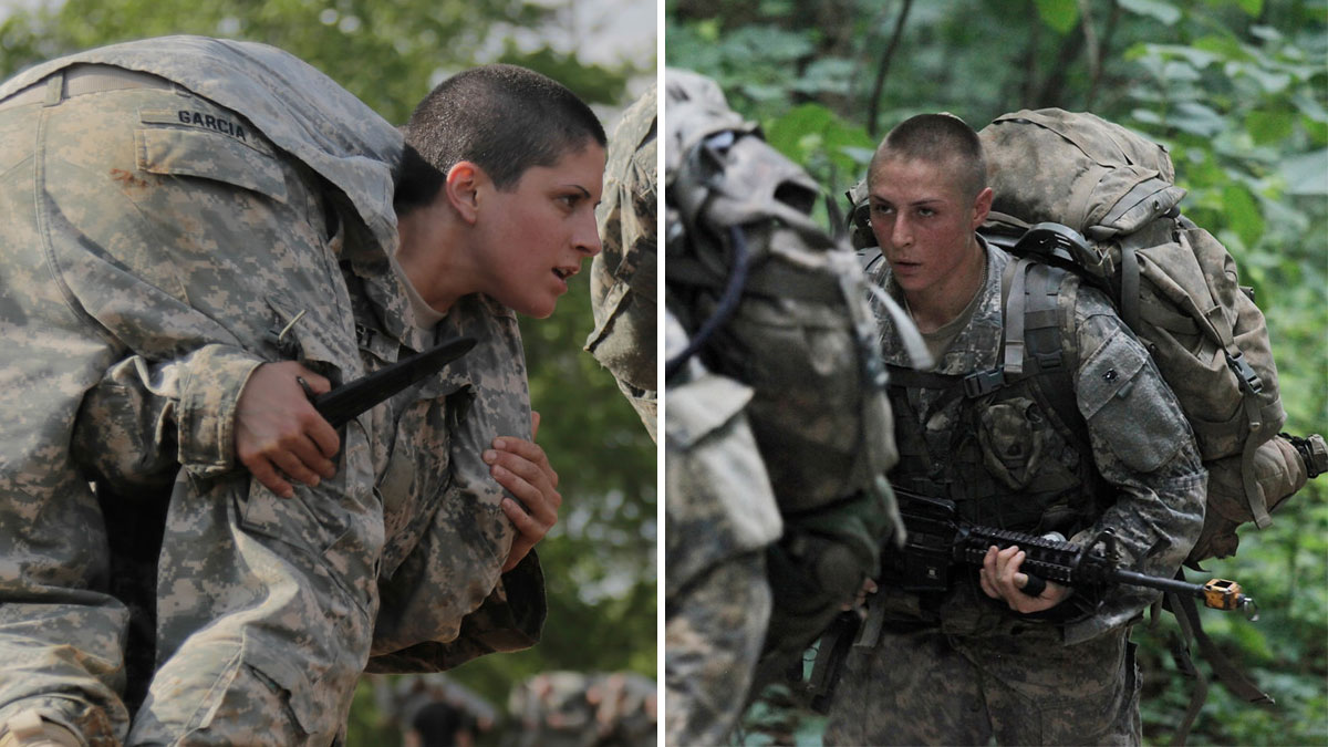 U.S. Army Capt. Kristen Griest (left) and 1st Lt. Shaye Haver (right) are the first two women to complete the notoriously grueling Army Ranger course and are scheduled to graduate Friday, August 21, 2015. from the elite Ranger School. (Photos by Scott Brooks, Ebony Banks/U.S. Army)