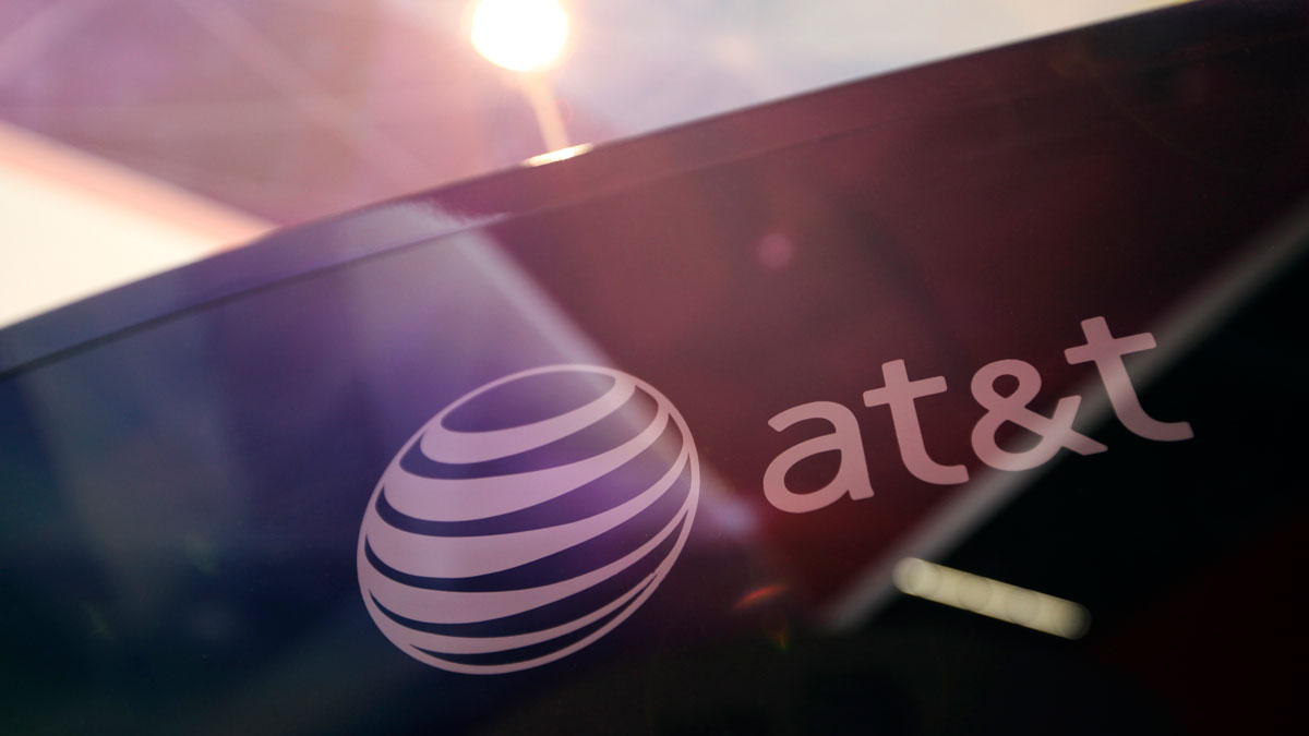 An AT&T logo is picture in this file photo.