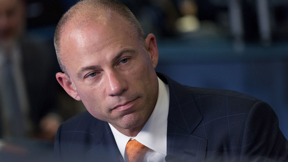 Michael Avenatti, Stormy Daniels' attorney, is interviewed on the Cheddar network, May 10, 2018, in New York.