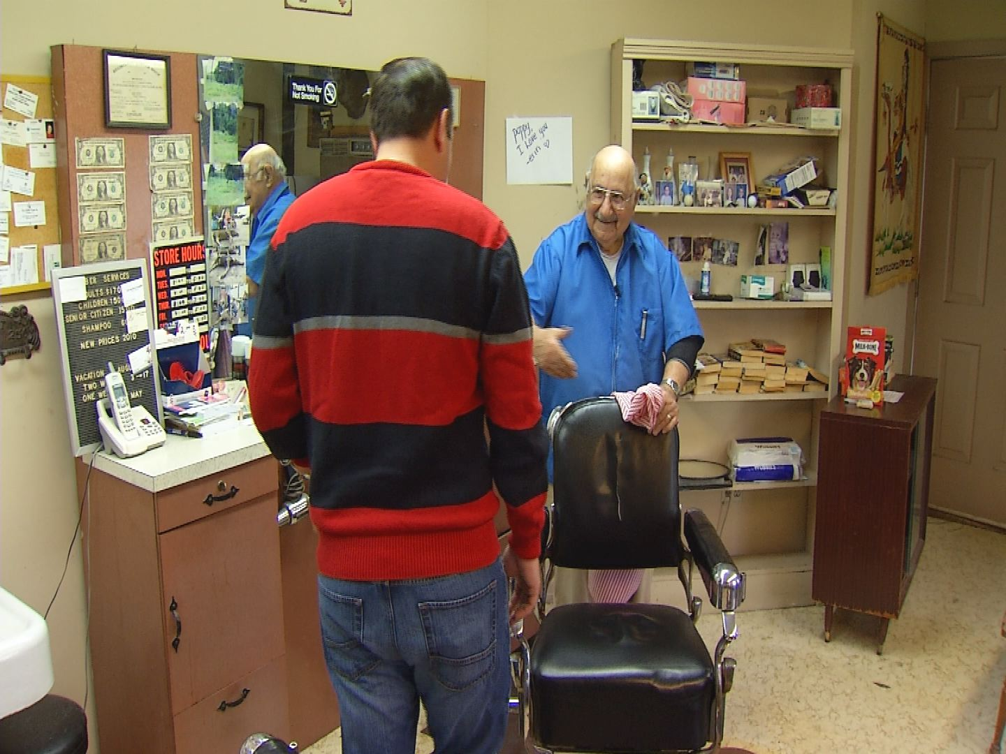 There's no telling how many thousands of haircuts Jimmy Cerrigione has given in his Windsor barber shop since 1959. But on Wednesday, he gave his very last haircut just after noon.