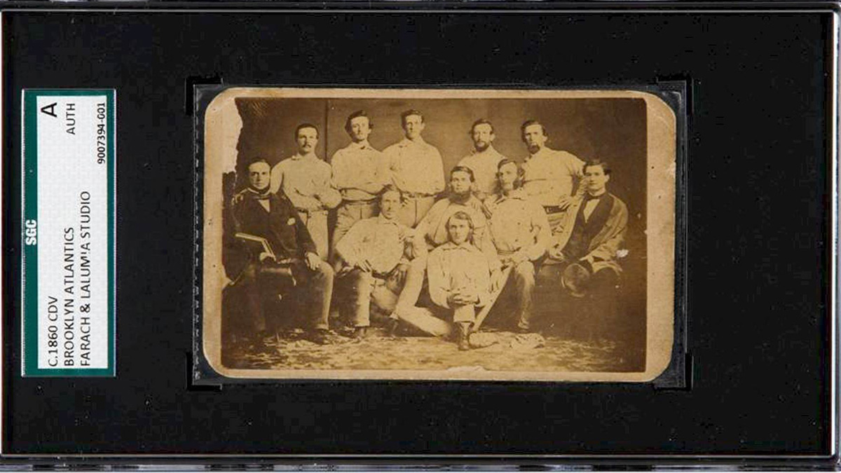 A pre Civil War baseball card, dating to around 1860, was auctioned in Chicago in Thursday.