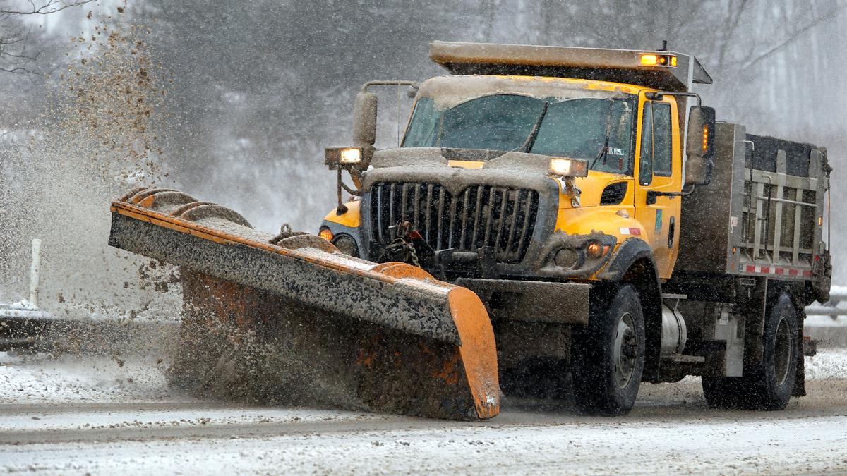 Snowplow stock photo. (AP Photo/Keith Srakocic)