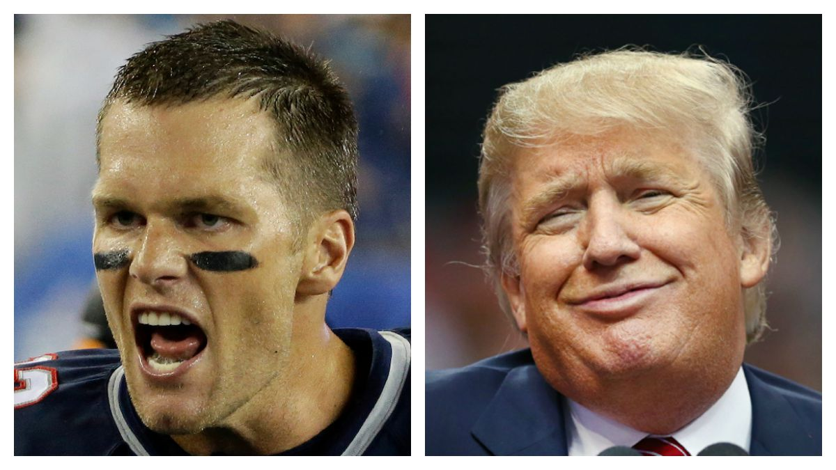Is Tom Brady endorsing Donald Trump for president?