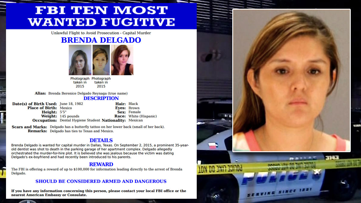 Brenda Delgado, inset right, along with her FBI