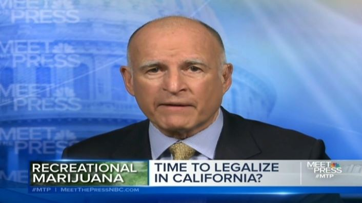 Governor Jerry Brown says he is unsure about marijuana legalization.