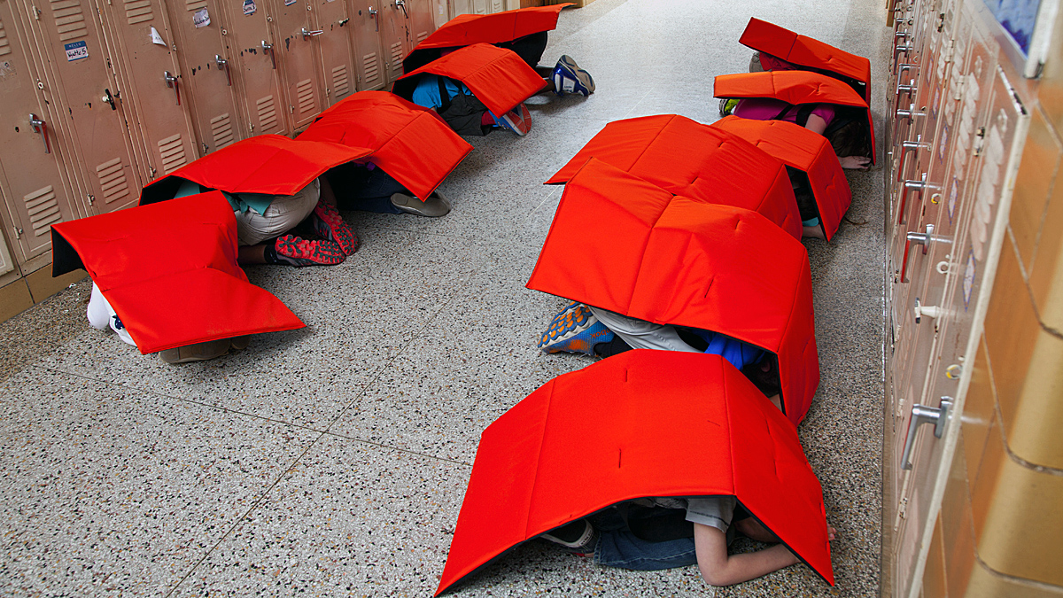 Bodyguard Blankets, made of ballistic fabric and tested with the same armor testing as police bulletproof vests, are designed to protect children during possible shootings and tornadoes.
