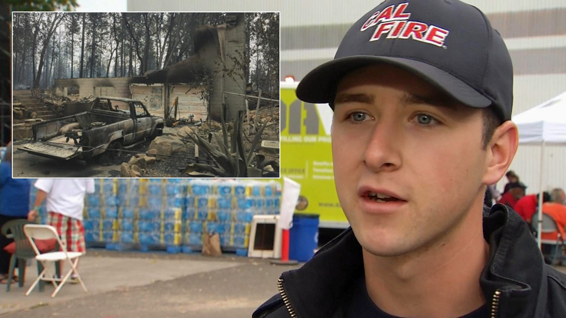 Cal Fire firefighter Robert Taylor had to perform the sad duty of informing his family their Middleton home is gone.