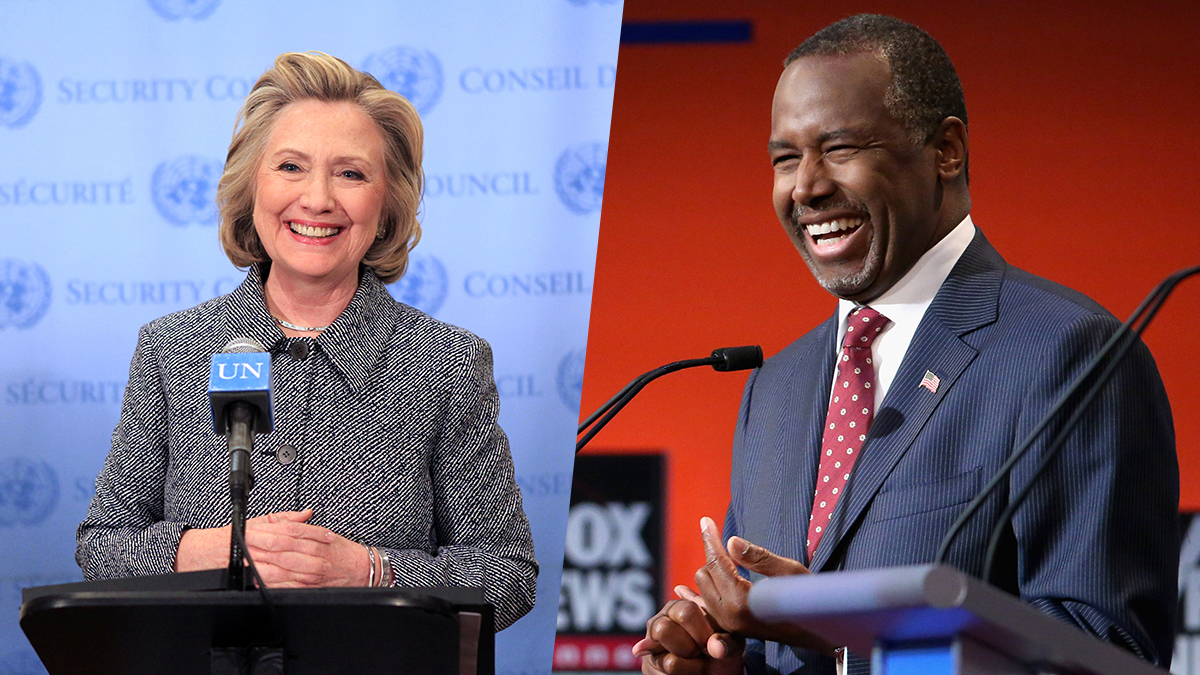 Hillary Clinton and Ben Carson are tied in a hypothetical matchup according to brand-new numbers from the NBC News/Wall Street Journal poll released Tuesday, Nov. 3, 2015.
