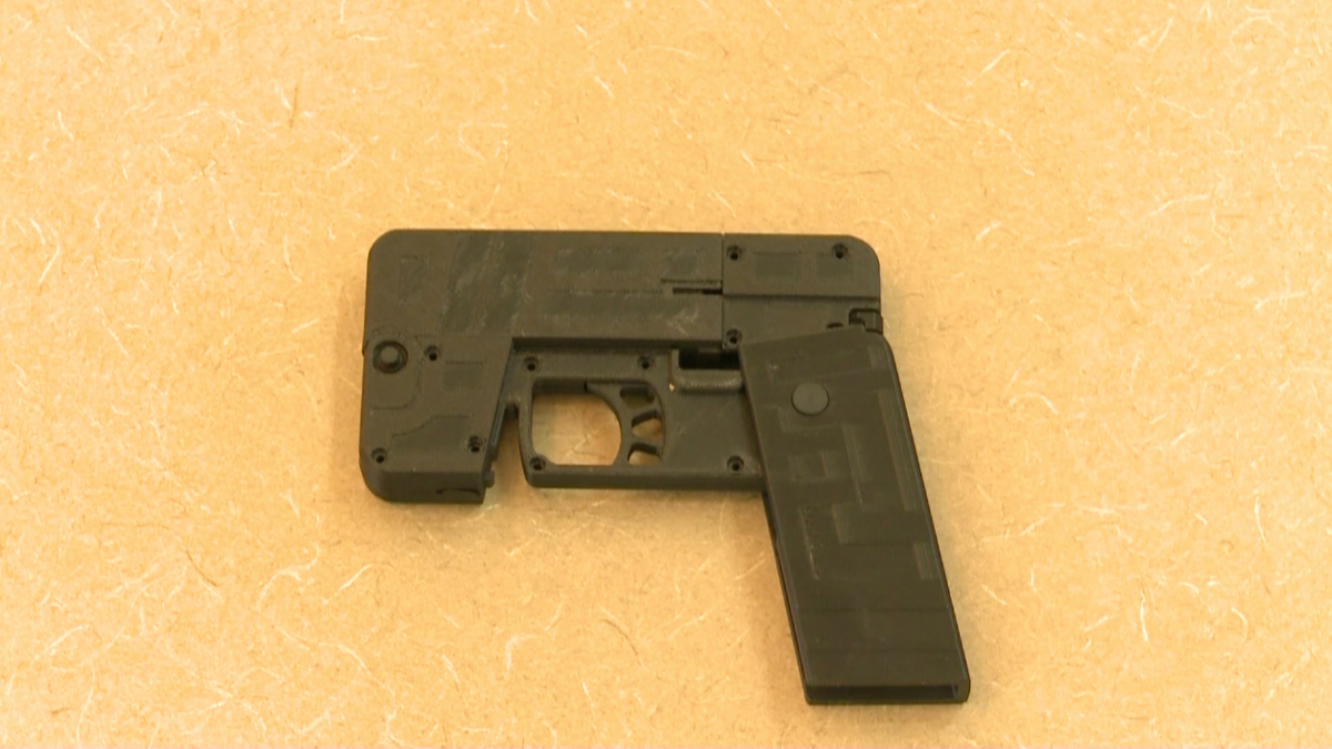 A handgun that looks like a cell phone designed by Ideal Conceal CEO Kirk Kjellberg.