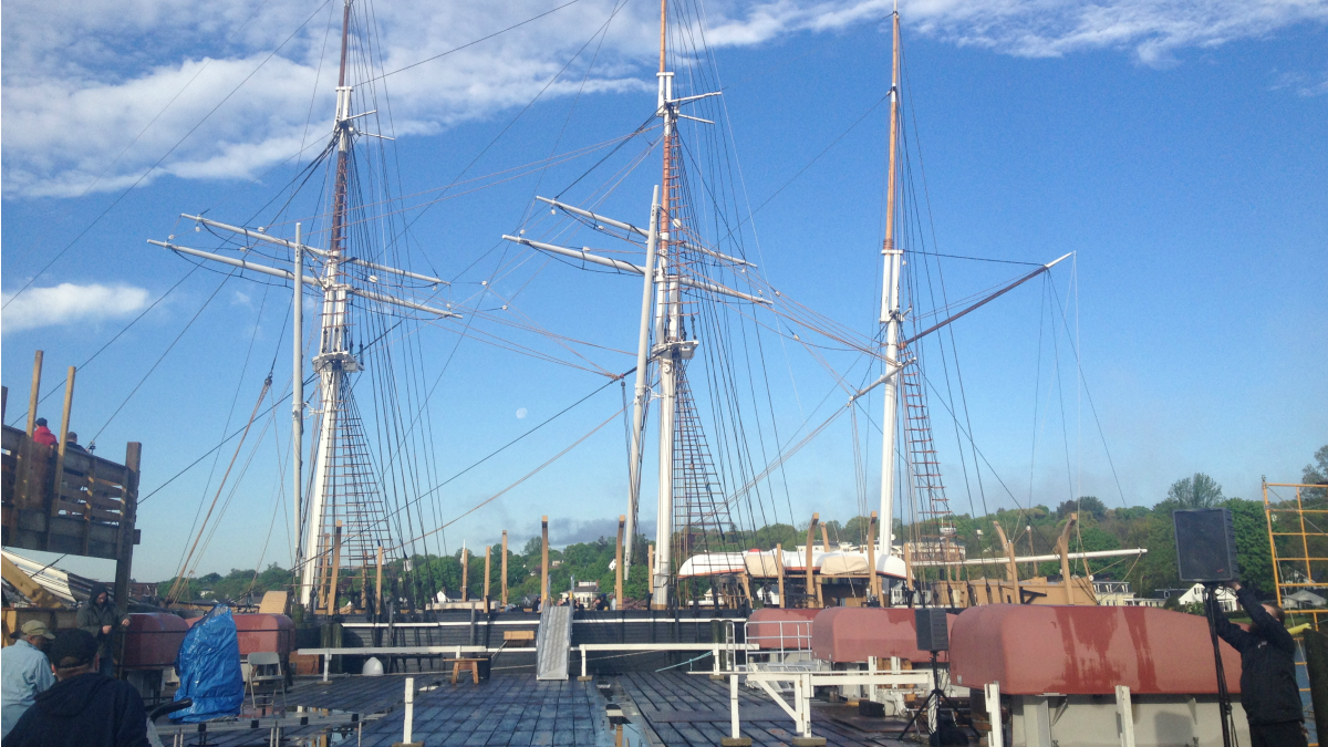 The Charles W. Morgan whaling ship departed Mystic Seaport for the first time since 1941 to begin her 38th voyage.