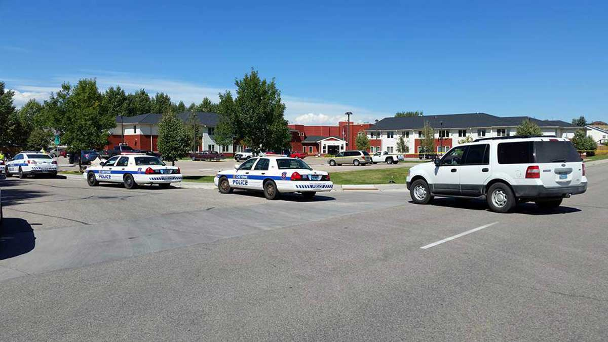 Cheyenne police respond to an active shooter on Sept. 14, 2016.