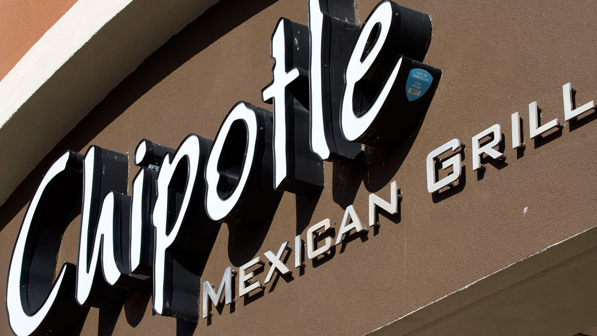 The sign for Chipolte Restaurant is seen February 8, 2016, in Fairfax, Virginia.Chipotle restaurants across the US are temporarily closing until 3pm EST in an effort to educate 60,000 employees about the food-borne illnesses that have rocked the company in recent months. Food safety protocols will also be explained in the meeting. / AFP / PAUL J. RICHARDS (Photo credit should read PAUL J. RICHARDS/AFP/Getty Images)