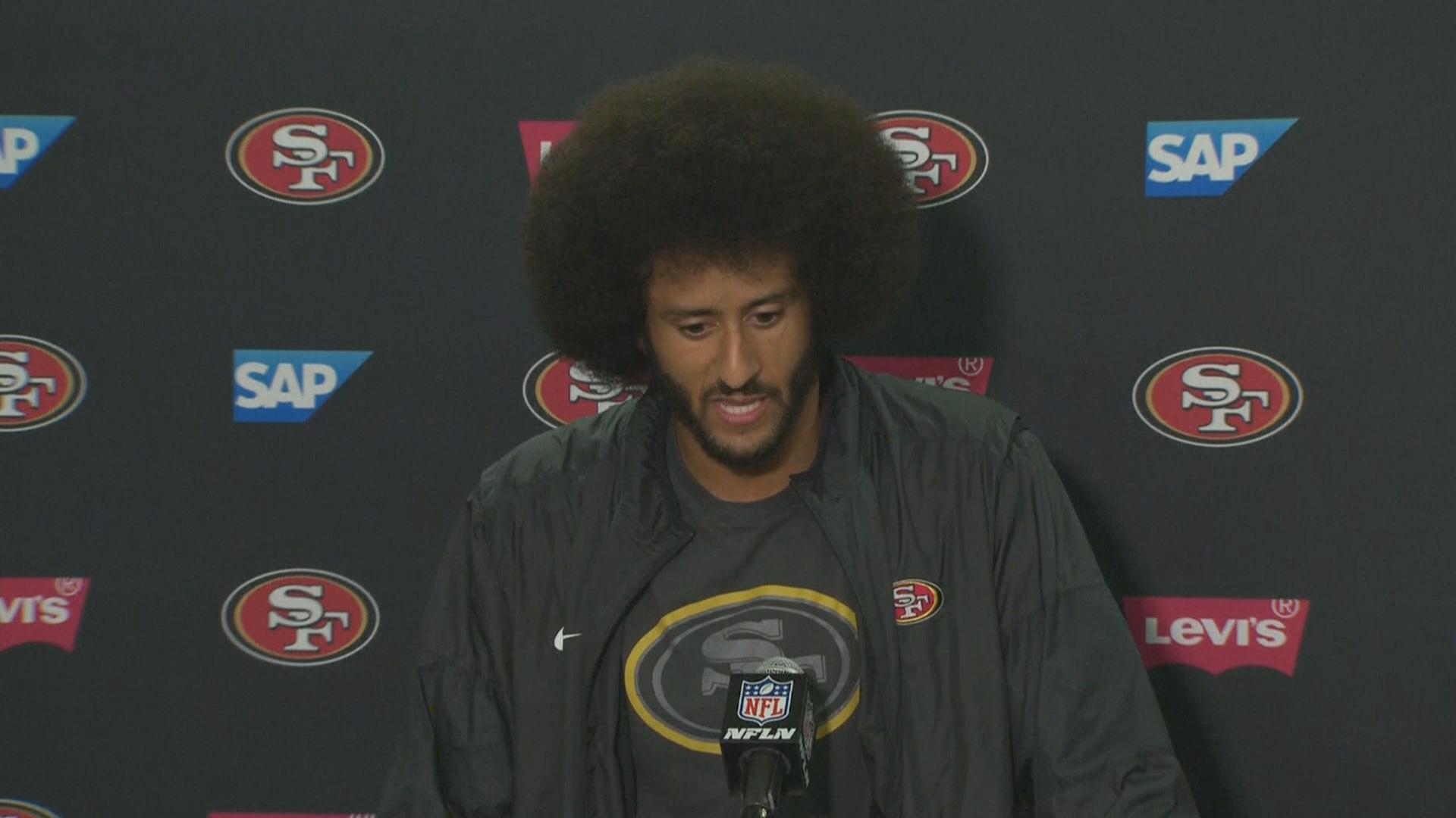 San Francisco 49ers quarterback Colin Kaepernick said he'd donate $1 million to community organizations. Sept. 1, 2016.