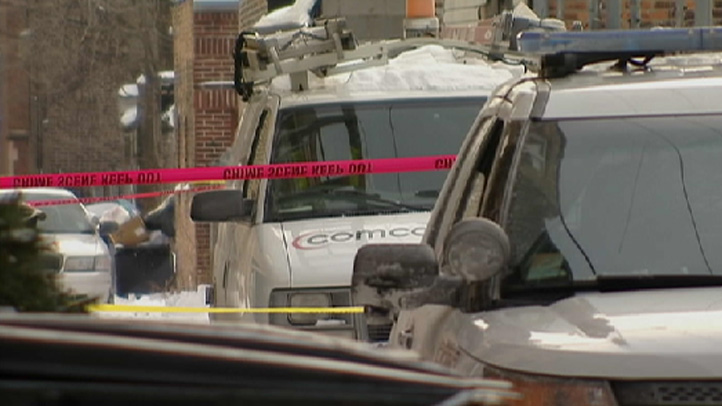 The worker was sitting in his vehicle just before 1 p.m. in an alley near 76th Street and Kingston Avenue when he was approached by a robber.