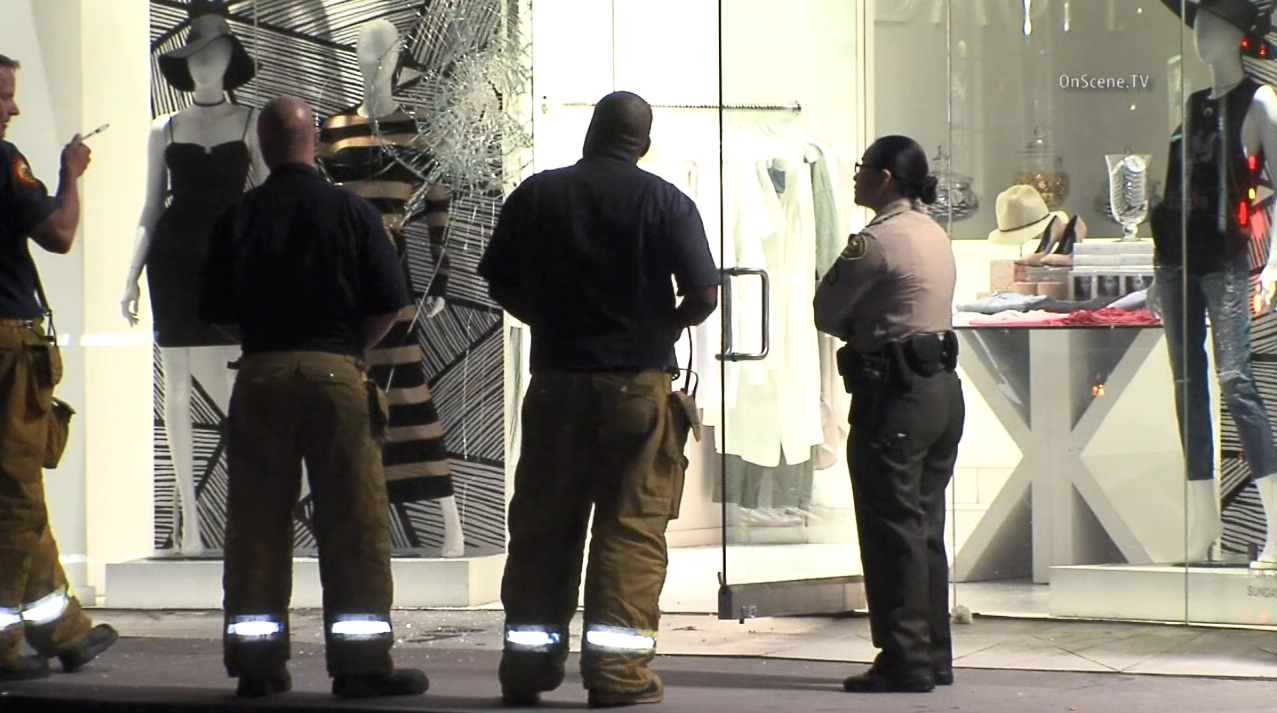Authorities were investigating an attempted arson at a boutique owned by the Kardashians.