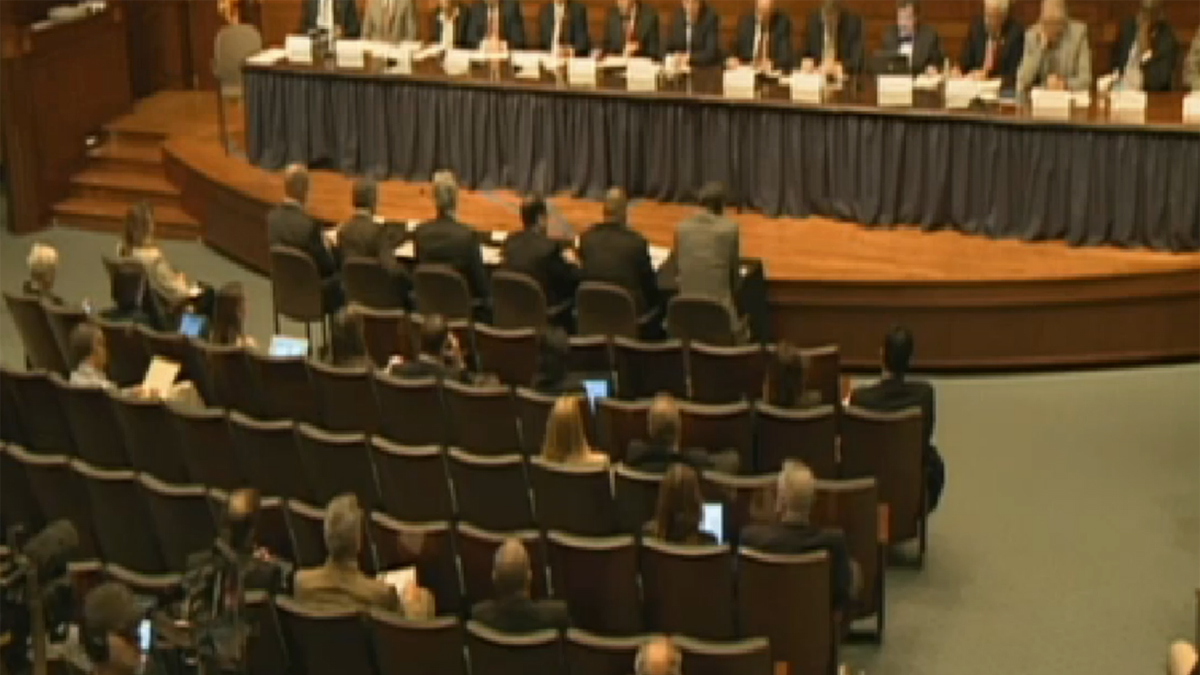 The new Texas Task Force on Infections Disease Preparedness and Response holds its first public hearing. Oct. 23, 2014.