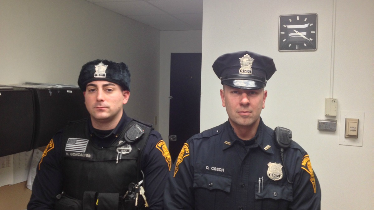Officers Damien Csech and Matthew Goncalves
