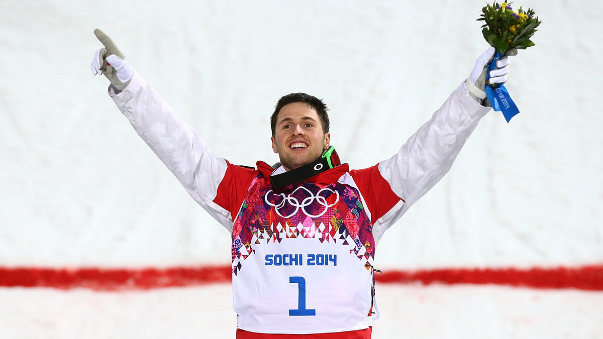 Skier Alex Bilodeau of Canada won his second consecutive Olympic gold medal in the men's mogul competition. His teammate, Mikael Kingsbury, won silver.