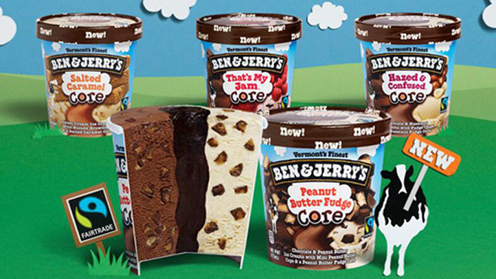 """The new core ice cream flavors include """"Hazed & Confused,"""" """"Peanut Butter Fudge,"""" """"Salted Caramel"""" and """"That's My Jam."""""""