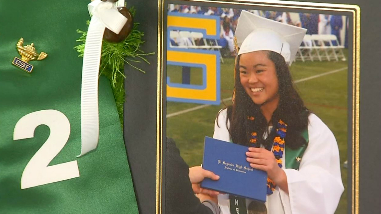 Kristin Villanueva's $2,000 college fund was stolen when she and her parents were away for her freshman orientation at Cal Poly San Luis Obispo.