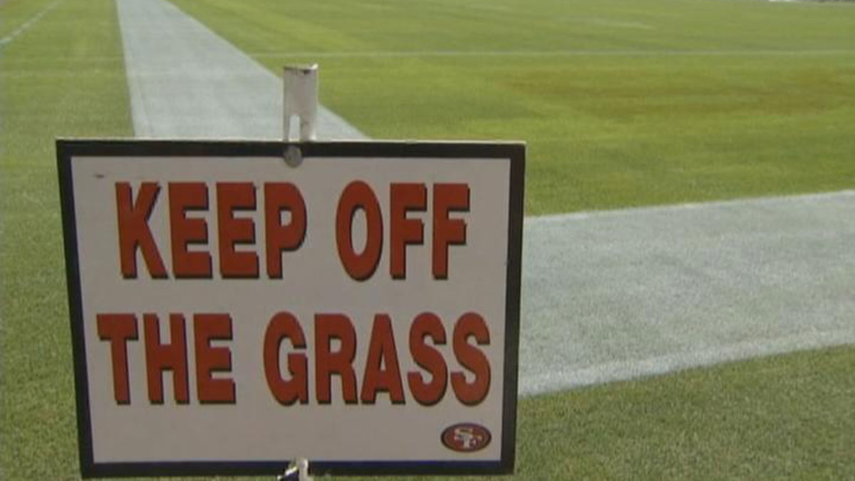 An error on the field was made by NFL grounds crew when the Broncos logo was painted in Panthers territory.