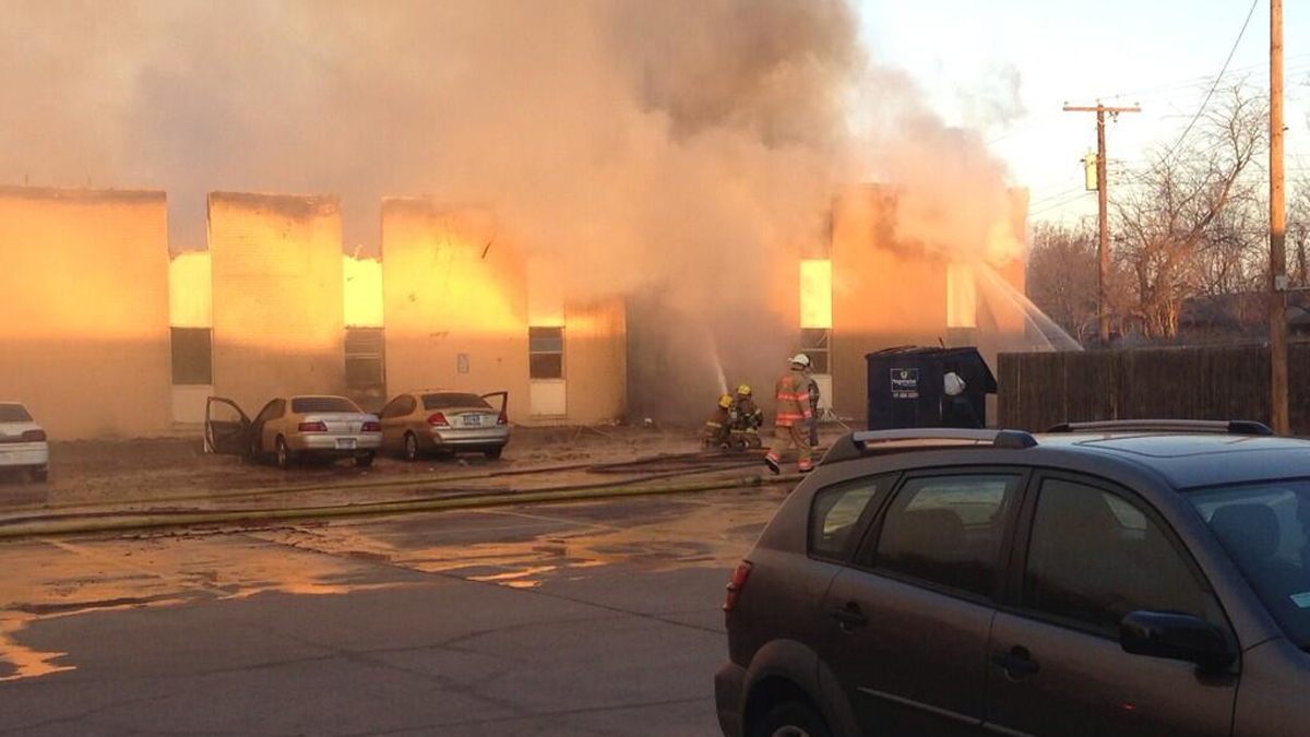 A large fire has destroyed two dozen units in an apartment building in Everman.